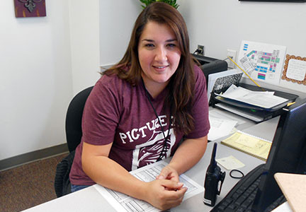 Irina Rodriguez, receptionist at ROJH, will be part of the Contact and Communication team during Friday's mock disaster drill.