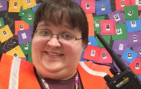 Amanda Hulett, math teacher at ROJH, will be part of the Student Care and Control team during Friday's mock disaster drill.