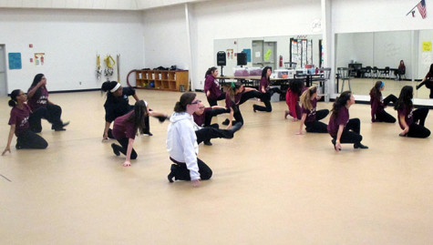 Cathy Isaacs' first period dancers practice their routine for an upcoming performance.