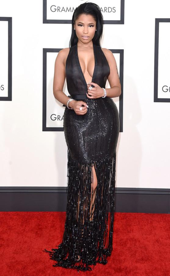"""Nicki Minaj looked STUNNING in this Tom Ford dress. Not only is she blowing up the charts with her album """"The Pinkprint,"""" she also blew minds on the red carpet."""