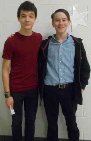 Trevor Burns and Devin Wilcox won an award for All-Star Cast at the One Act Competition.