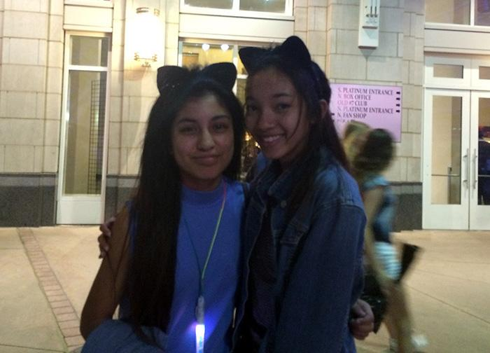 Mikayla Flores, left, and Zoie Shaw lived the dream April 1 when they got to see their favorite singer, Ariana Grande, in concert.