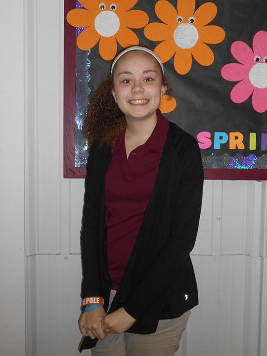 8th grader Julie Rayburn was one of four winners from ROJH for the Parent of the Year essay competition. She nominated her mom, Josie Rayburn.