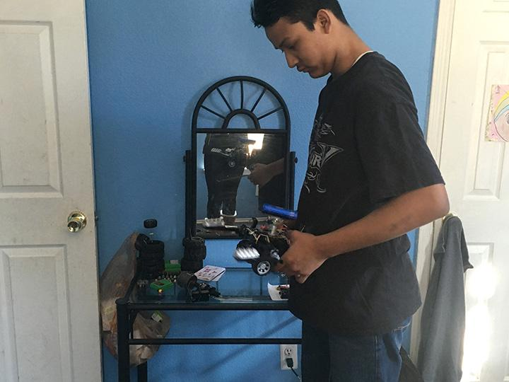 In the future, Batres wants to build one of his greatest inventions yet, a remote-controlled helicopter and even dreams to pursue a career in constructing devices.